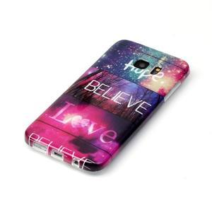 Softy gelový obal na Samsung Galaxy S7 edge - love - 2