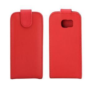 Flipové pouzdro na mobil Samsung Galaxy S7 edge - červené - 2