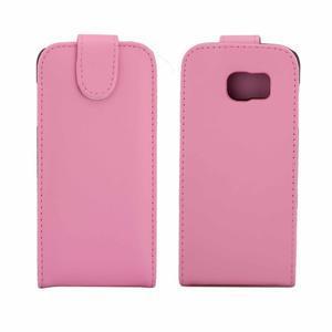 Flipové pouzdro na mobil Samsung Galaxy S7 edge - růžové - 2