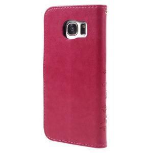 Butterfly PU kožené pouzdro na Samsung Galaxy S7 edge - rose - 2