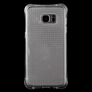 Glitter gelový obal na Samsung Galaxy S7 edge - transparentní - 2