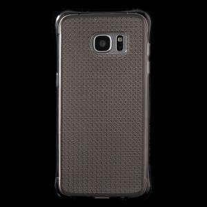 Glitter gelový obal na Samsung Galaxy S7 edge - šedý - 2