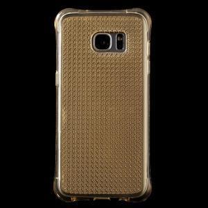 Glitter gelový obal na Samsung Galaxy S7 edge - zlatý - 2