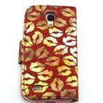 Pusinky peněženkové pouzdro na Samsung Galaxy S4 Mini - červené - 2/4
