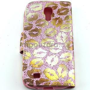 Pusinky peněženkové pouzdro na Samsung Galaxy S4 Mini - růžové - 2