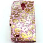 Pusinky peněženkové pouzdro na Samsung Galaxy S4 Mini - růžové - 2/4