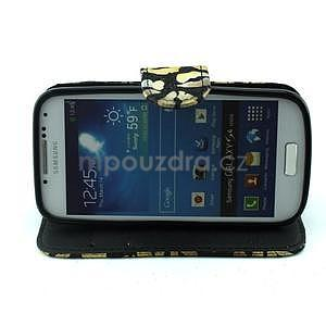 Pusinky peněženkové pouzdro na Samsung Galaxy S4 Mini - černé - 2