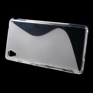 Transparentní s-line pružný obal na Sony Xperia M4 Aqua - 2