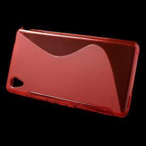 Červený s-line pružný obal na Sony Xperia M4 Aqua - 2