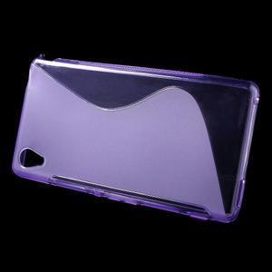 Fialový s-line pružný obal na Sony Xperia M4 Aqua - 2