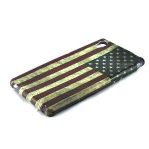 Gelový kryt na Sony Xperia M4 Aqua - US vlajka - 2