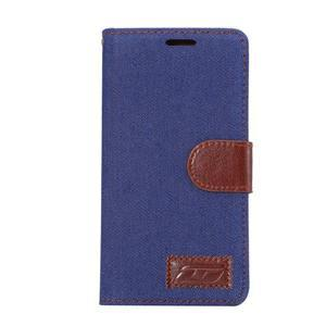 Jeans peněženkové pouzdro Sony Xperia Z5 - tmavěmodré - 2