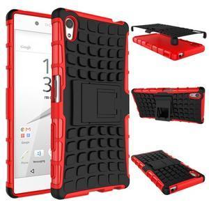 Outdoor odolný obal na Sony Xperia Z5 - červený - 2