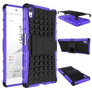 Outdoor odolný obal na Sony Xperia Z5 - fialový - 2