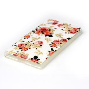 Softy gelový obal na mobil Sony Xperia Z5 - květiny - 2