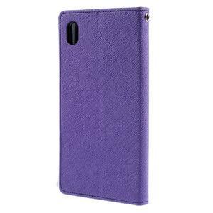 Mercur peněženkové pouzdro na Sony Xperia Z5 - fialové - 2