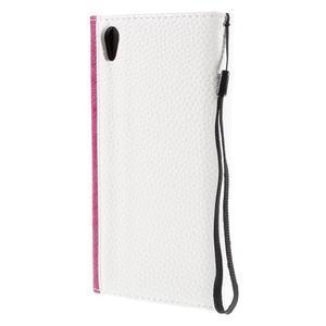 Stylové peněženkové pouzdro Sony Xperia Z5 - rose - 2