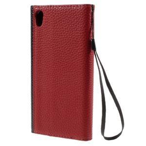 Stylové peněženkové pouzdro Sony Xperia Z5 - červené - 2