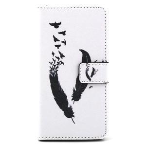 Cross peněženkové pouzdro na Sony Xperia Z5 - ptačí peříčka - 2