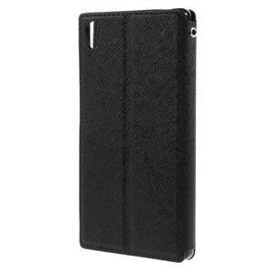 Diary pouzdro s okýnkem na Sony Xperia Z5 - černé - 2