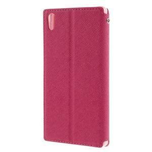 Diary pouzdro s okýnkem na Sony Xperia Z5 - rose - 2