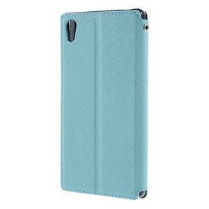 Diary pouzdro s okýnkem na Sony Xperia Z5 - světlemodré - 2