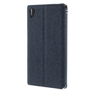 Diary pouzdro s okýnkem na Sony Xperia Z5 - tmavěmodré - 2