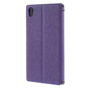 Diary pouzdro s okýnkem na Sony Xperia Z5 - fialové - 2