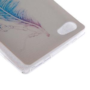 Gelový obal na mobil Sony Xperia Z5 Compact - peříčko - 2
