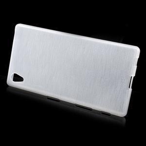 Brush lesklý gelový obal na Sony Xperia Z5 - bílý - 2