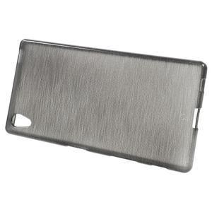 Brush lesklý gelový obal na Sony Xperia Z5 - šedý - 2