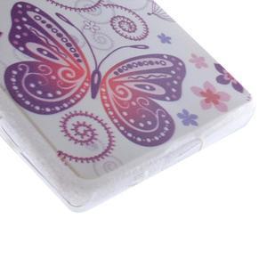 Gelový obal na mobil Sony Xperia Z5 Compact - květiny a motýl - 2
