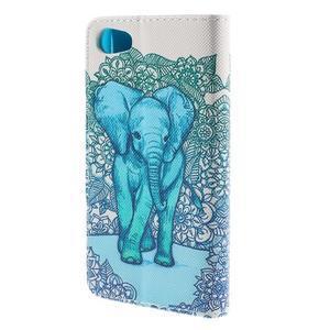 Diary peněženkové pouzdro na Sony Xperia Z5 Compact - slon - 2