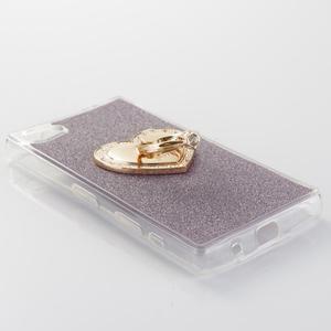 Love gelový obal s náprstkem na Sony Xperia Z5 Compact - fialový - 2