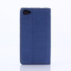 Stylové jeans pouzdro na mobil Sony Xperia Z5 Compact - modré - 2