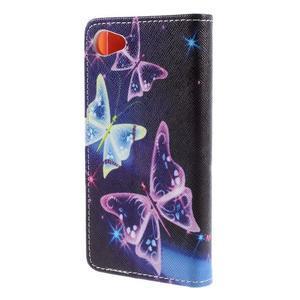 Wally peněženkové pouzdro na Sony Xperia Z5 Compact - kouzelní motýlci - 2