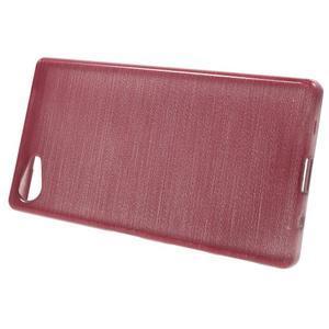 Brush gelový obal na Sony Xperia Z5 Compact - růžový - 2