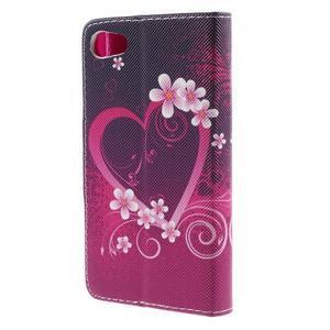 Diary peněženkové pouzdro na Sony Xperia Z5 Compact - srdce - 2