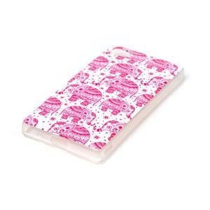 Sally gelový obal na Sony Xperia Z5 Compact - růžoví sloni - 2