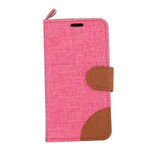 Cloth peněženkové pouzdro na mobil Sony Xperia Z5 Compact - růžové - 2