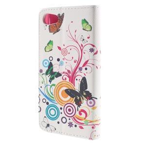 Diary peněženkové pouzdro na Sony Xperia Z5 Compact - motýlci - 2