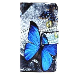 Peněženkové pouzdro na mobil Sony Xperia Z5 Compact - modý motýl - 2