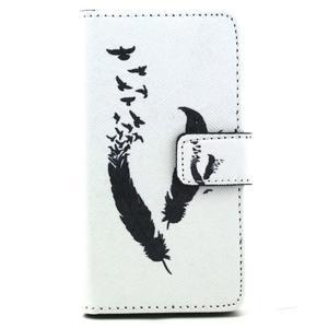 Peněženkové pouzdro na mobil Sony Xperia Z5 Compact - ptačí peříčka - 2
