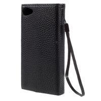 Stylové peněženkové pouzdro na Sony Xperia Z5 Compact - černé/hnědé - 2/7