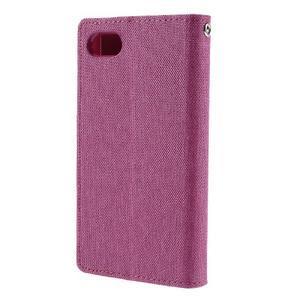 Canvas PU kožené/textilní pouzdro na Sony Xperia Z5 Compact - rose - 2