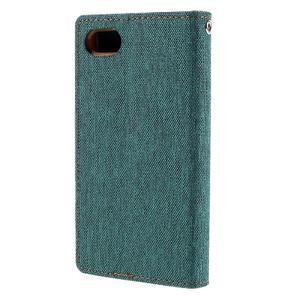 Canvas PU kožené/textilní pouzdro na Sony Xperia Z5 Compact - zelené - 2