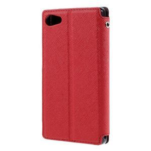 Pouzdro s okýnkem na Sony Xperia Z5 Compact - červené - 2