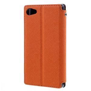 Pouzdro s okýnkem na Sony Xperia Z5 Compact - oranžové - 2