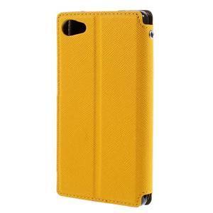 Pouzdro s okýnkem na Sony Xperia Z5 Compact - žluté - 2