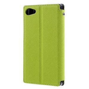 Pouzdro s okýnkem na Sony Xperia Z5 Compact - zelené - 2